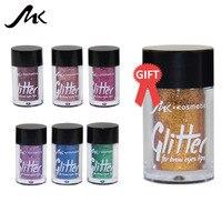Mua 6 tặng 1 miễn phí MK thương hiệu 12 màu sắc Kim Loại Long Lanh Bột cho Móng Tay Đôi Môi Eyeshadow glitter kim cương Trang Điểm