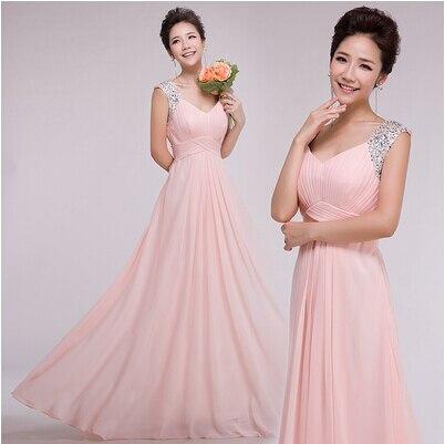 pink dresses floor length