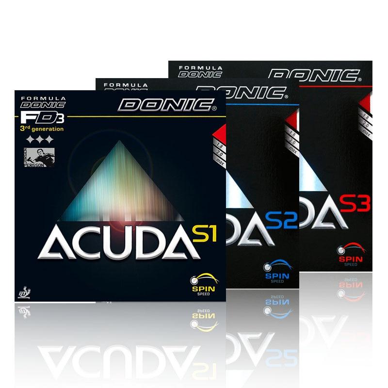 オリジナル Donic Acuda S1 S2 S3 卓球ラバーにきびでピンポンスポンジ Tenis デ · メサ  グループ上の スポーツ & エンターテイメント からの 卓球アクセサリー & 機器 の中 1