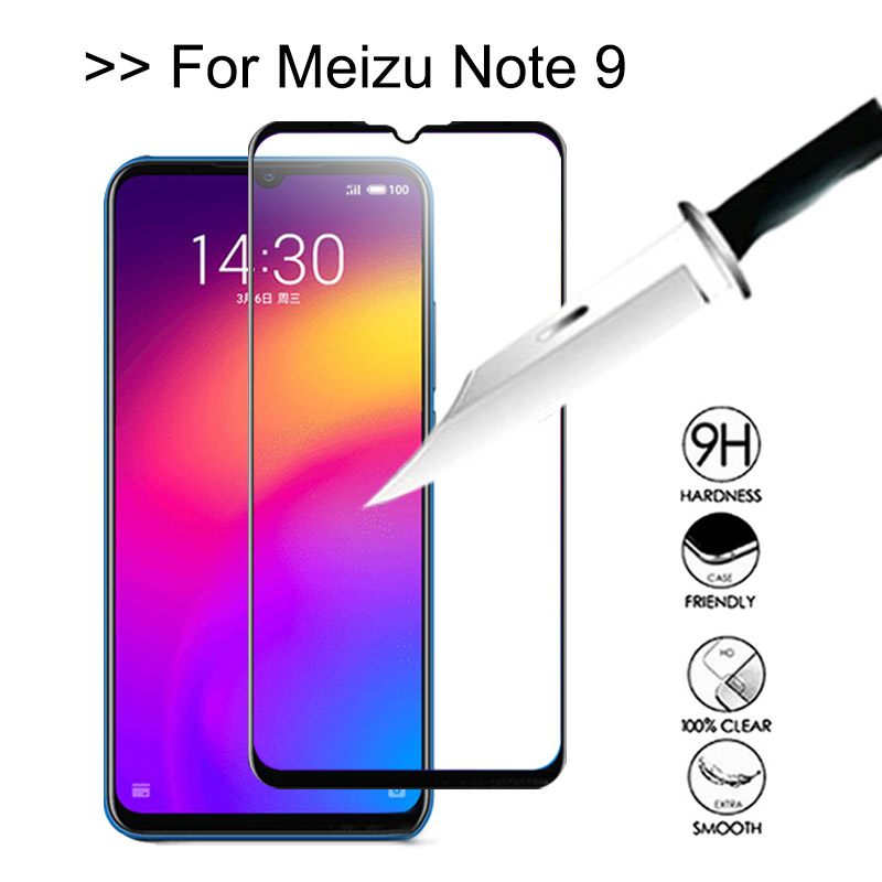 Screen-Protector Coque-Film Tempered Note9 Meizu Glas-On for Full-Cover Maisie