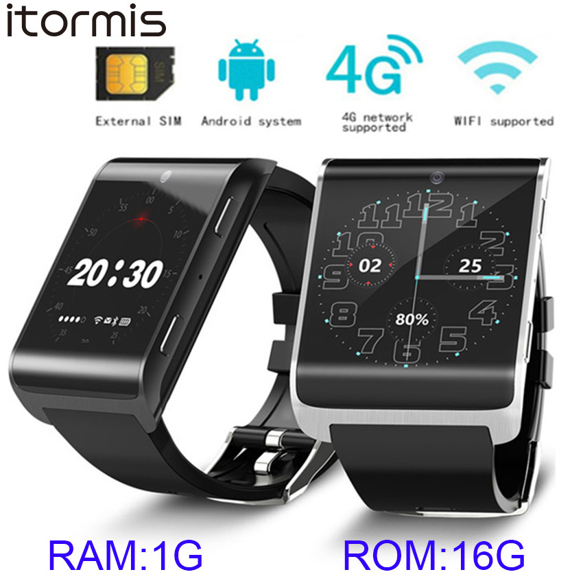 ITORMIS Android Smart Phone Watch Bluetooth Sports Tracker Wristwatch 4G FDD LTE Network WiFi GPS Smartwatch Big Battery