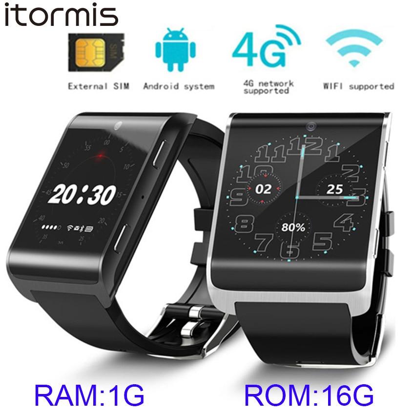 ITORMIS Android Teléfono Inteligente reloj Bluetooth Sports Tracker reloj 4G FDD-LTE red WiFi GPS Smartwatch Batería grande