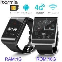 Itormis Android смартфон Смотреть Bluetooth спортивные трекер часы наручные 4G FDD LTE сети Wi Fi gps Smartwatch большой Батарея