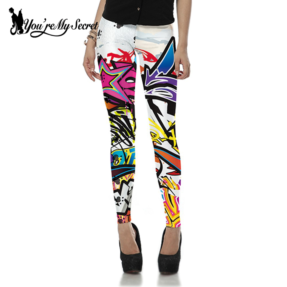[Youre My Secret]Fashion Streetwear Style Leggings Women Scotland Skinny Leggins Sexy Fi ...