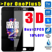 CUUSEY 3D Tempered Glass For Oneplus 5 Screen Protector for One Plus 5 Full Screen Coverage 9H HD glass film for One plus5