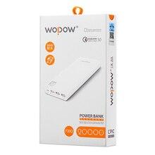 Wopow Quick Charger 3.0 P20Q 20000mAh power bank 12W 10PCS/Llot