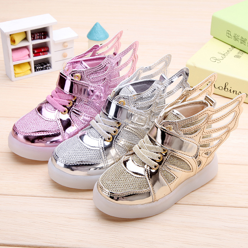 2017-New-Children-shoes-with-light-child-glowing-sneakers-led-kids-Lighted-Shoes-toddler-Boy-LED-Flashing-girls-shoes-wings-3