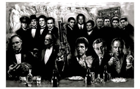 Gangsters collage movie art poster print 20x30free shipping