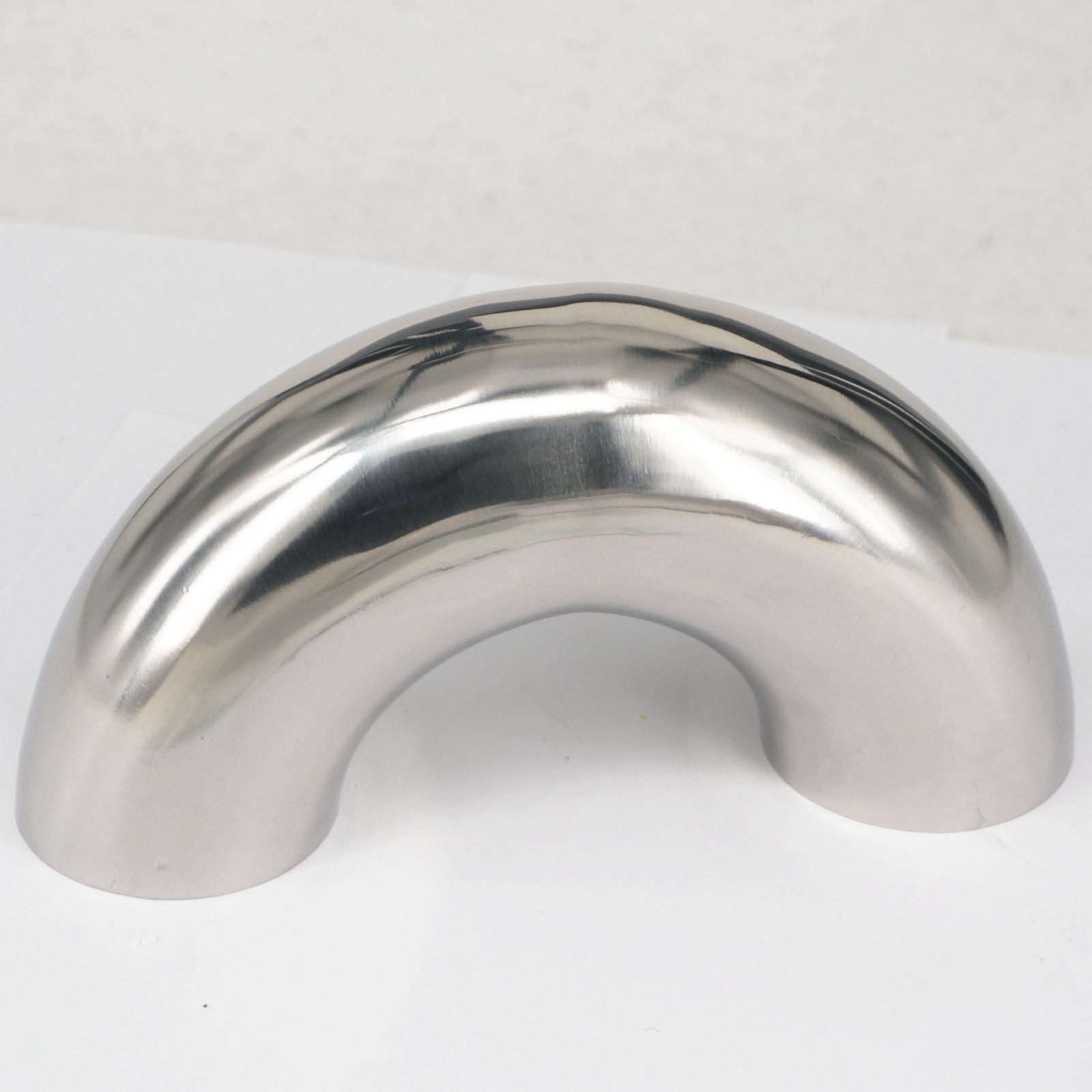 51mm 2 O/D 304 Stainless Steel Sanitary Weld 180 Degree Bend Elbow Pipe Fitting For homebrew Dairy Product new 57mm tee 3 way stainless steel 304 butt weld pipe fitting ss304