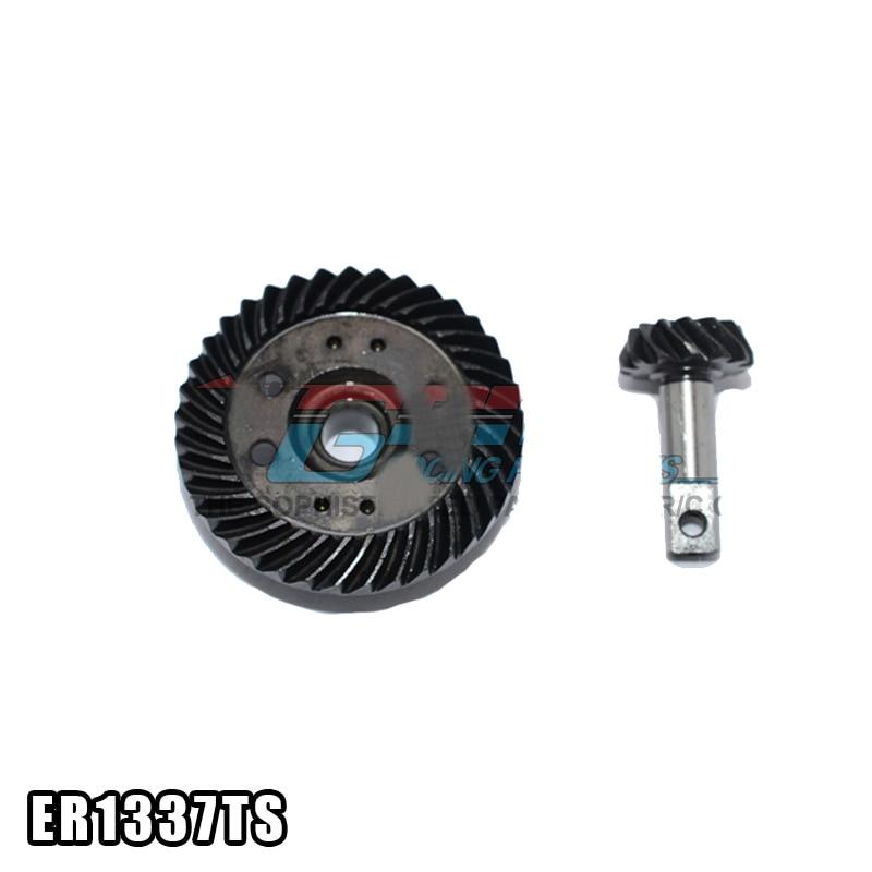 1 ensemble E E-MAXX SLASH 4X4 XO-01 37T 13T engrenage différentiel en acier boîte de vitesses engrenages coniques Mini pignon engrenages pour voitures RC pièces de mise à niveau