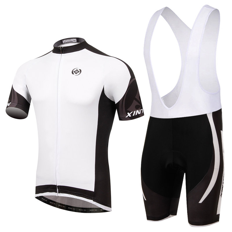 Summer Ropa Ciclismo Short Sleeve Bicycle Clothing Mens Bike Team Cycling Jersey Bib Shorts Outfits Sets L073