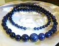6-14mm Galaxy Staras Blue Sand Sun Sitara Jasper Round Beads Necklace Rope Chain Beads Jewelry Natural Stone(Minimum Order1)