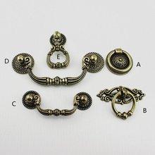 2.5 3.75 Vintage Dresser Pulls Drop Ring Drawer Knobs Handles Bail Antique Bronze Kitchen Cabinet Door Handle