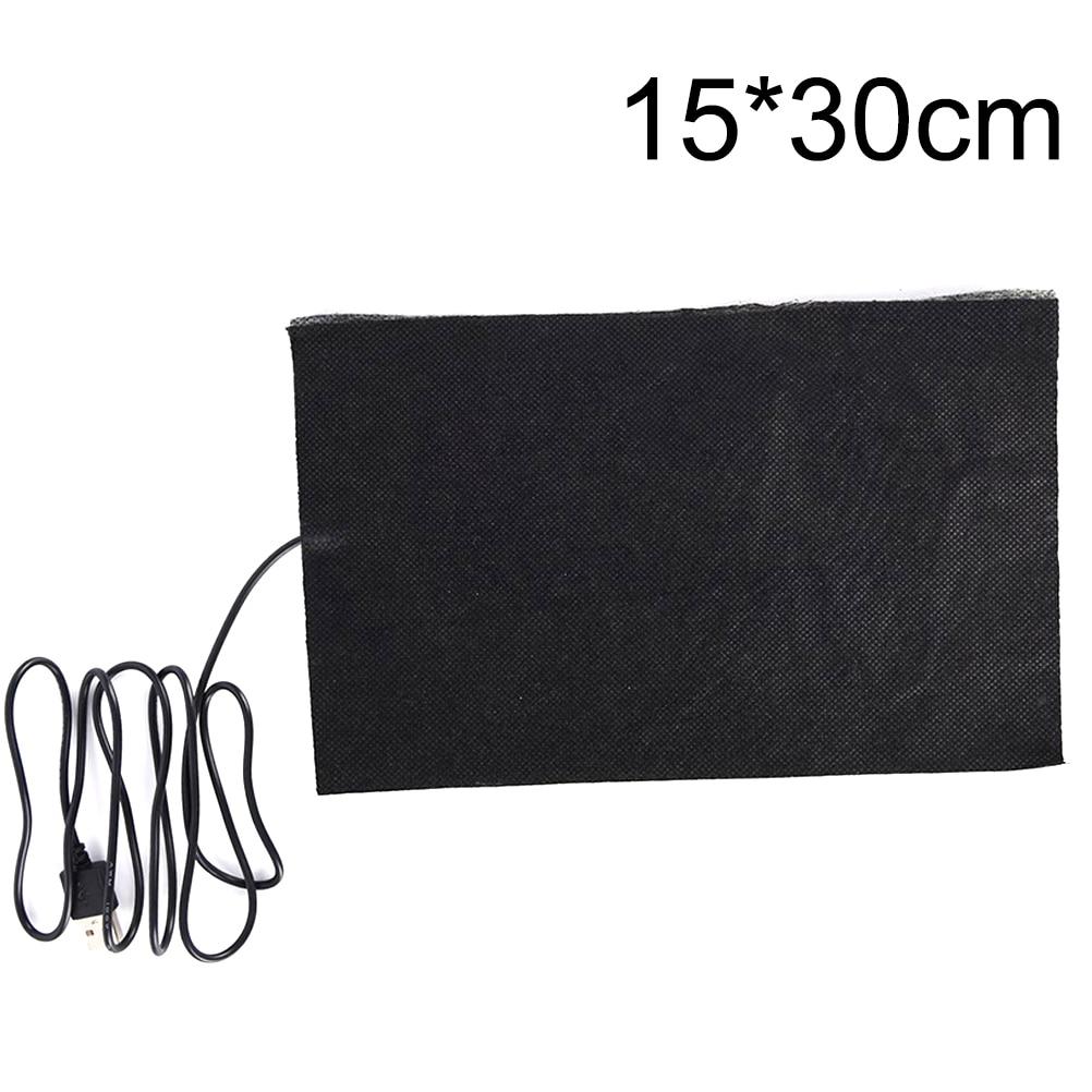 1Pc 5V USB Heated Jacket Coat Vest Accessories Carbon Fiber Heated Pads Warm Back Neck Fast-Heating 15X30cm