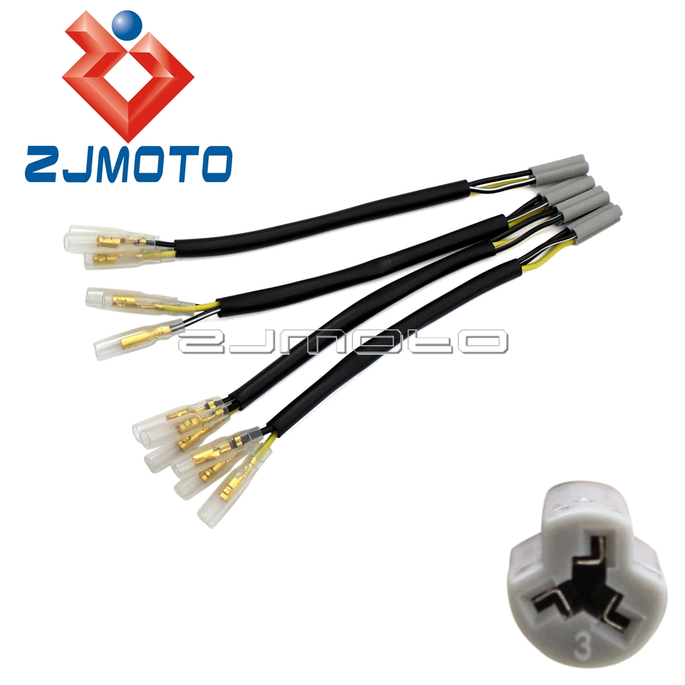 US $4.99 |4x Motorcycle OEM Turn Signal Wiring Adapter Plug Harness on