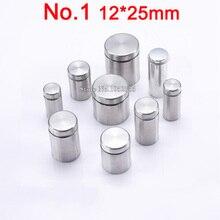 Brand New 100PCS/lot 12mm*25mm Advertisement Nails Hollow Glass Mirror Screws Glass Standoff Pins Furniture Hardware E313