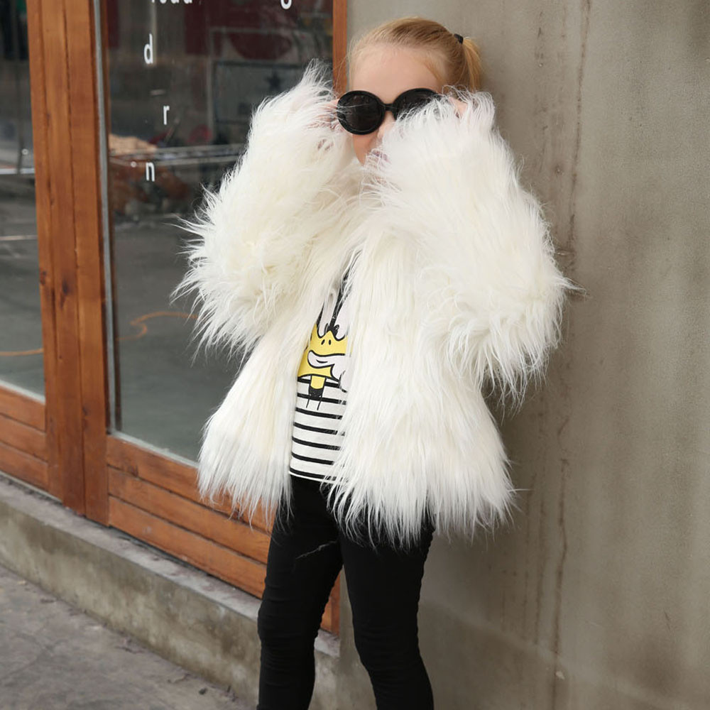 2018 Children Coat Kids Girl Fur Coat Faux Baby Girls -5944