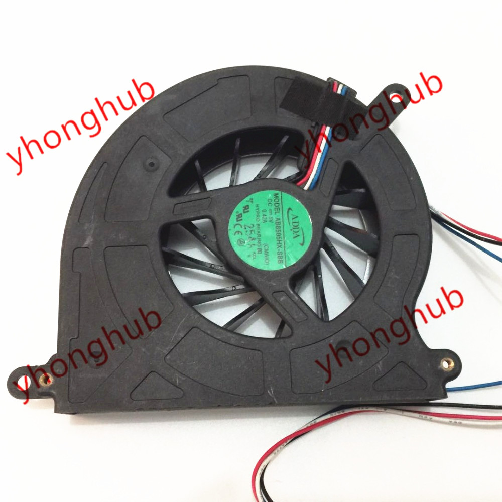 ADDA AB8505HX SBB DC 5V 0 42A 4 Wire Server Laptop Cooler Fan