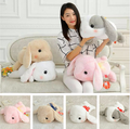 Bunny Fluffy Rabbit  Plush Toy Lying Gesture Cushion Pillow Gift Giving