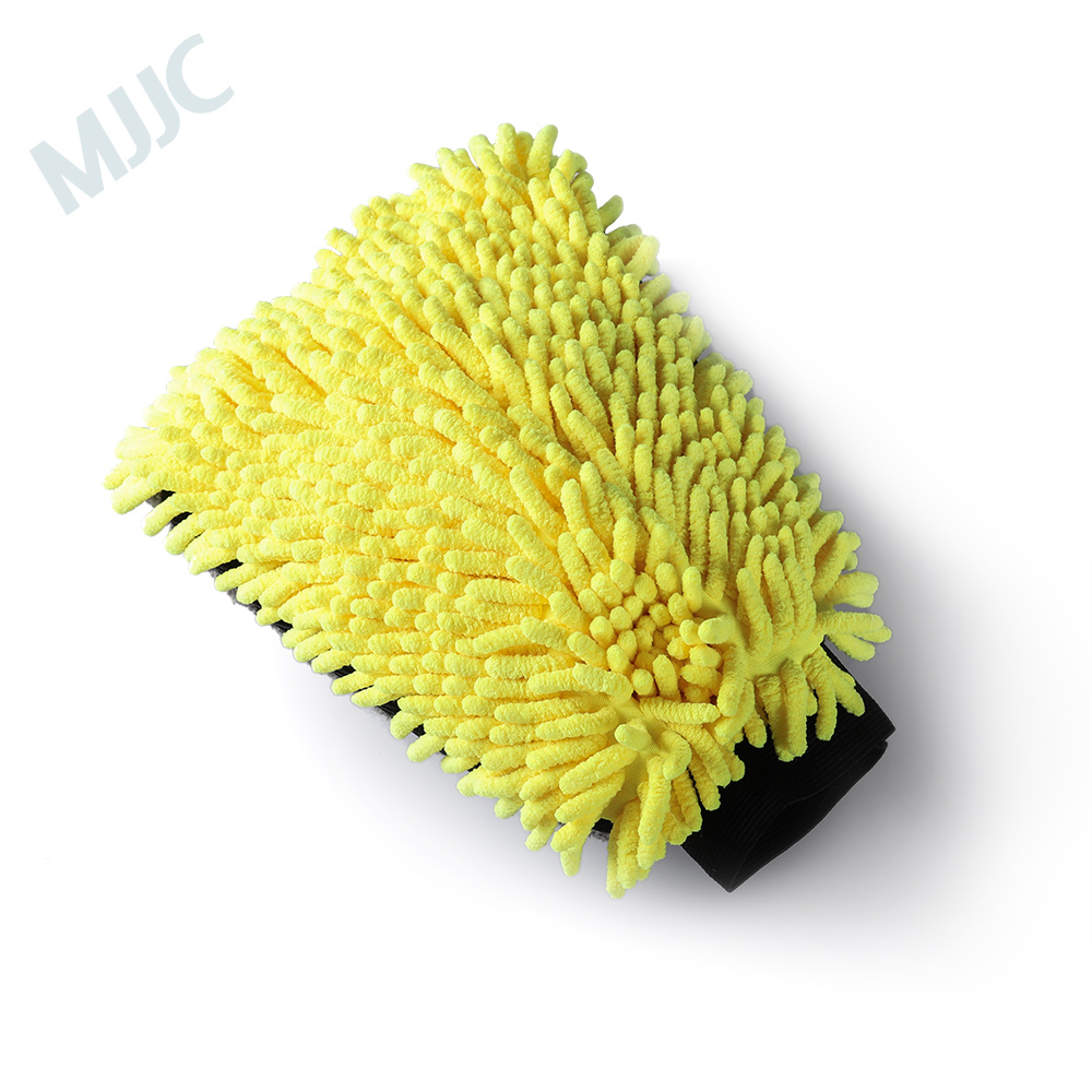 MJJC Microfiber And Chenille Wash Mitt With Waterproof Liner Inside Ultra Soft Car Wash Mit household chenille microfiber flexible duster dirt cleaning wash brush tool blue