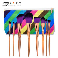 GUJHUI 8PCS Make Up Foundation Eyebrow Eyeliner Blush Cosmetic Concealer Brushes  Gift For Beauty A29