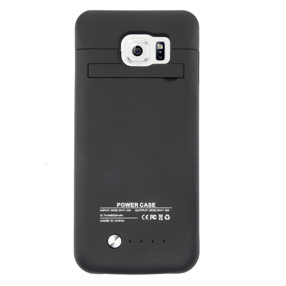 bilder für Für samsung galaxy s6 4200 mah externes ladegerät abdeckung fall lade telefon schutzhülle energienbank backup batteria