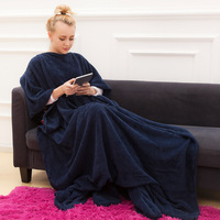 Home Textile Thick Wear Blankets Fashion Lazy Man Blanket Sofa Sleeping Blankets You Can Wear It