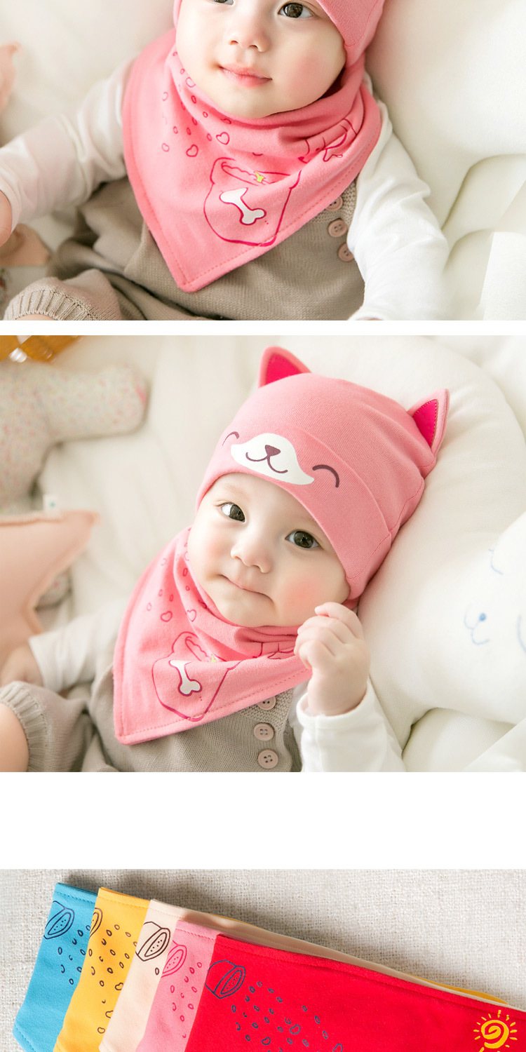 2pcslot Baby infant Winter Hat & Scarf Baby Winter Cap Children Warm Scarf For Boys Suit dog Hats Scarfs For Girl Boy Newborn (11)