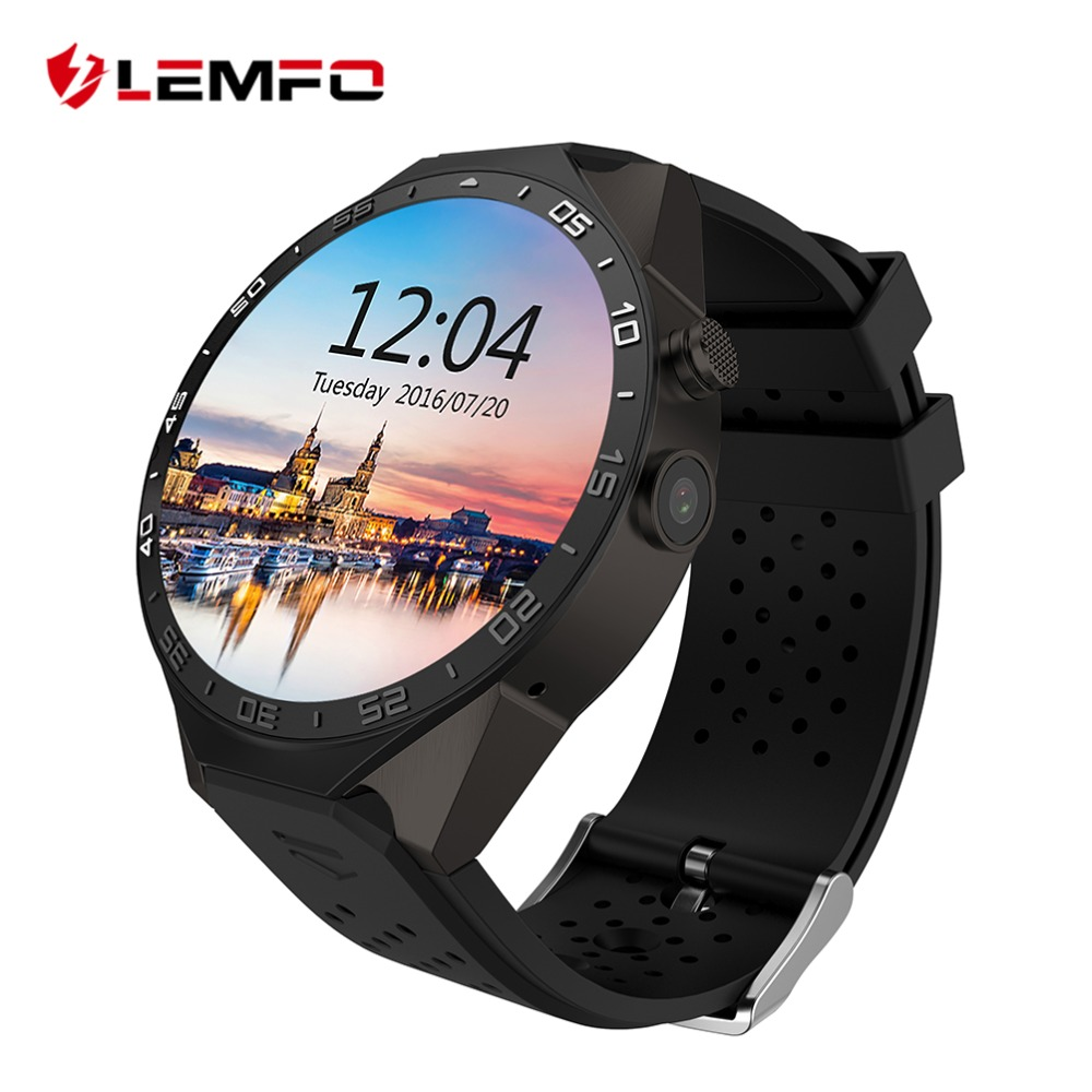 LEMFO KW88 Android Smart Watch Phone Wifi Smartwatch Independent Call Message MTK6580 ROM 4GB RAM 512MB