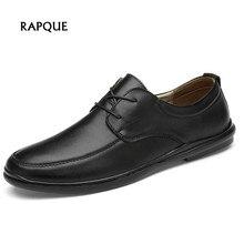 Мужские модельные туфли из натуральной кожи на шнуровке коричневые черные деловые туфли Мужская Удобная мужская обувь для мужчин большой размер 37-46