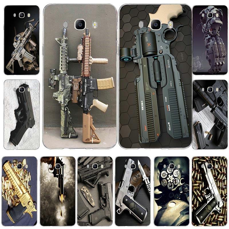 Nice Weapons Rifle Guns Sniper Pistol Bullet Fashion Cover Phone Case For Samsung Galaxy J1 J2 J3 J5 J7 Mini Ace 2016 2015 Prime Phone Bags & Cases