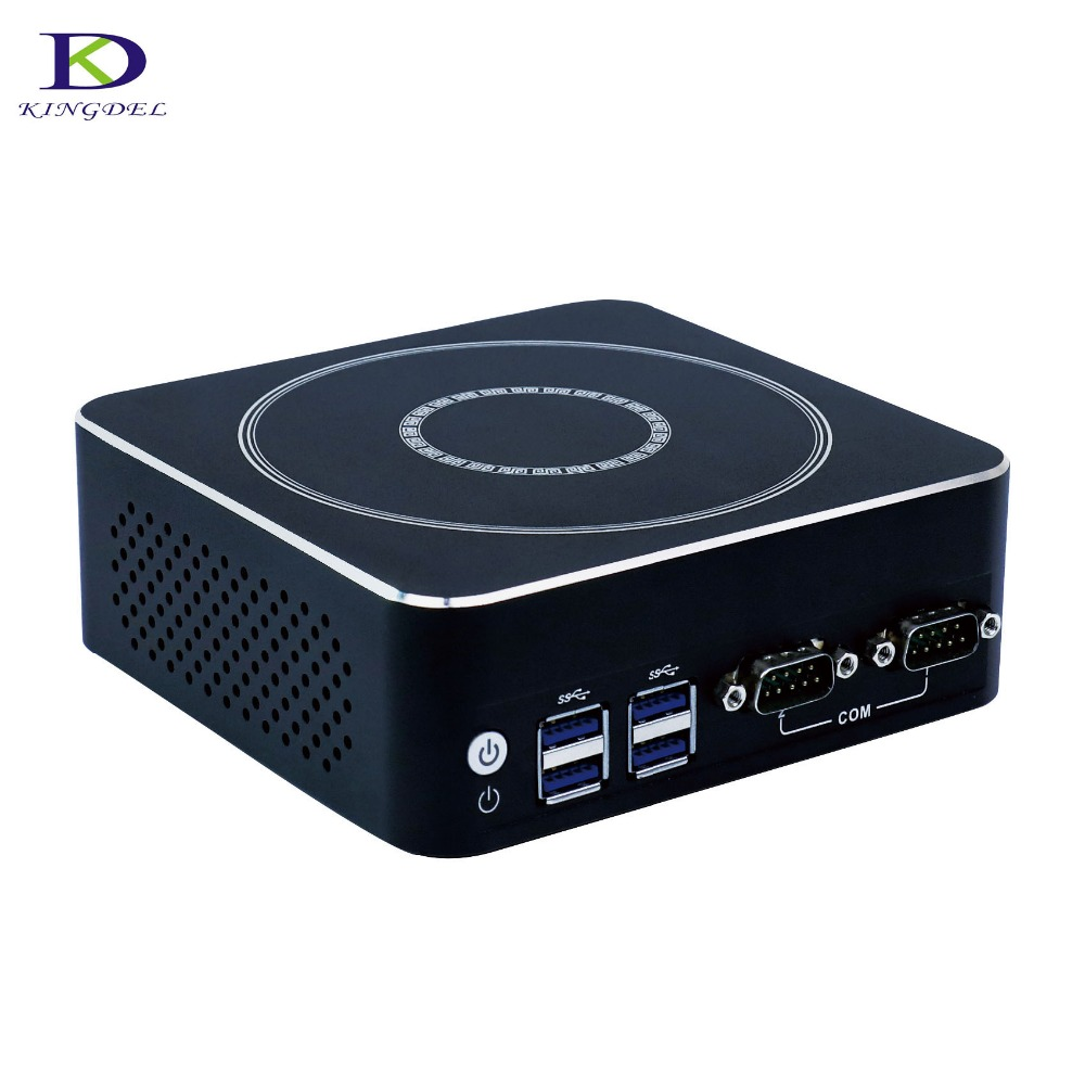 DDR4 Mini PC Mini Industrial Computer Intel 7th Gen CPU Core I7 7500U Dual Core Nettop HTPC With 16G RAM 256GB SSD DP HDMI 2*COM