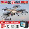 Más reciente Syma X8HW Hover RC FPV Quadcopter Drone con 4 K 1080 P Cámara HD 2.4G 6 Ejes Dron RC RTF Helicóptero VS MJX Syma X8HG X101