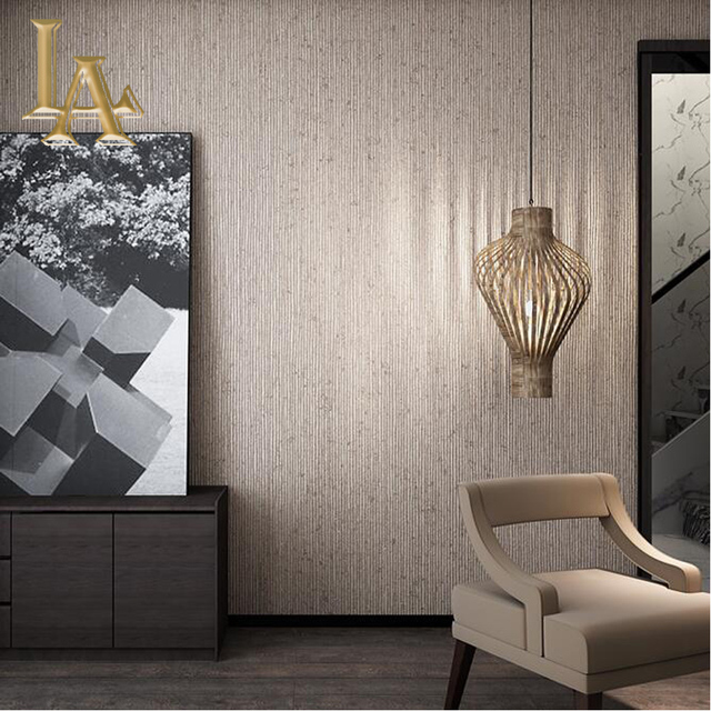 Vintage Beige Braun Vertikale Gestreifte Tapete Schlafzimmer Wohnzimmer  Decor Einfache Art Papier Wand Streifen Wand Papier