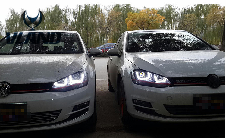 VLAND Factory For Car Head Lamp For Golf7 2014 2015 For Golf 7 Headlight with LED DRL LED Signal H7 D2H Xenon Beam