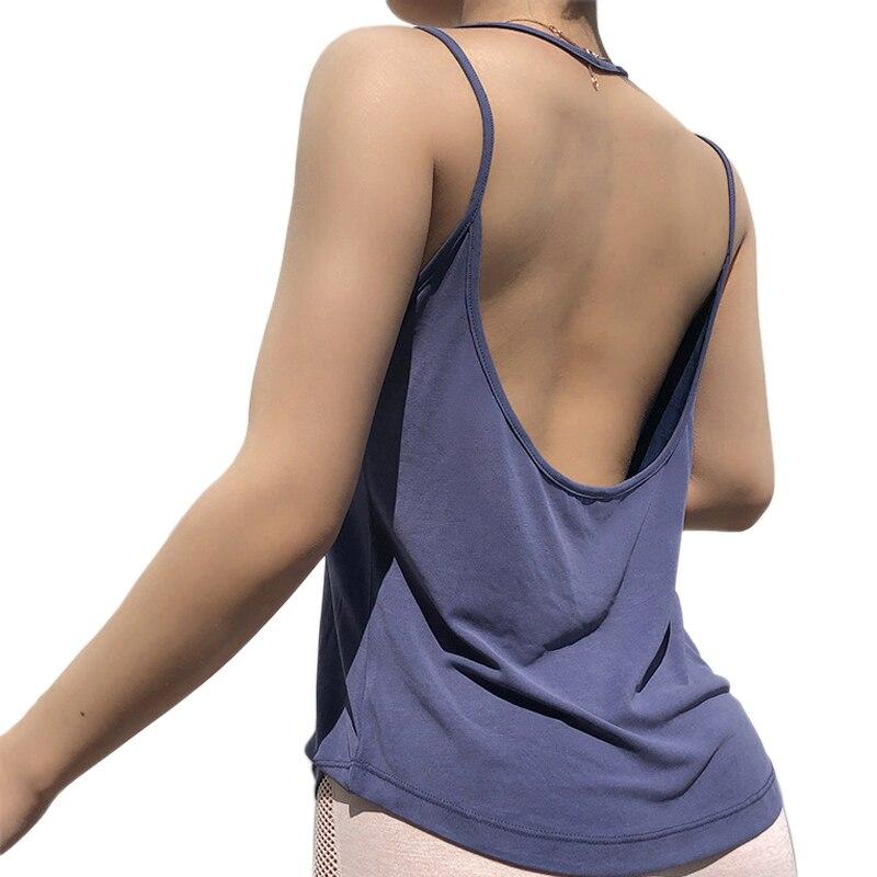 <+>  Женская свободная безрукавка спортивный жилет сексуальная спина йога рубашка тонкий пояс тренажерный ✔