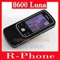 Original nokia 8600 luna mobile teléfono desbloqueado 2g gsm teléfono celular y el teclado ruso y un año de garantía