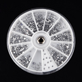 2400pcs 1.5mm Nail Art Tips Decoration clear flatback Crystal Glitter Rhinestone DIY decor tool with wheel