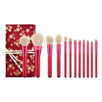 New 2019 Women's Fashion 12PCS  Rubies Blush Brush Eyeshadow Brush Makeup Brush Included Brush Kit Maquiagem Drop Shipping Eye Shadow Applicator