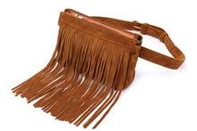 Waist Bags celuar Women Retro Tassel Fanny Pack Belt Bag Fashion Small Cell Phone Purse   for Women Teenager Girls