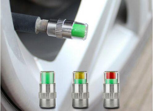 004 AUTO STORE 4PCS Car Tyre Tire Pressure Gauge Monitor Indicator Tpms Monitoring Cap Sensor Wheel Car Styling Air Press Alert Diagnostic Tool