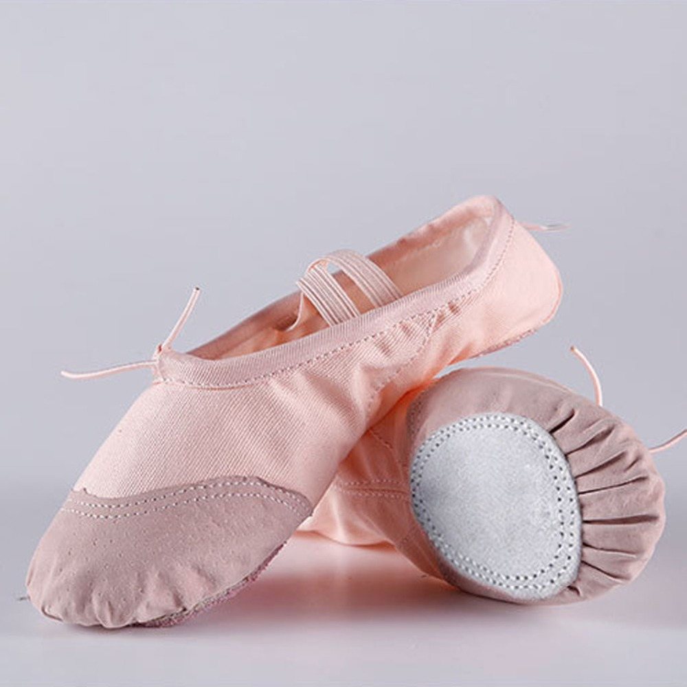 Ballet Shoes Kids Girls Children Cotton Canvas Practice Soft Dancing Footwear