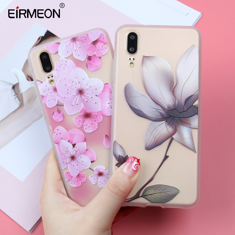 EIRMEON For Huawei Honor 9 Lite Case Honor 10 Lite 6X 7X P8 P9 P10 P20 Lite Soft TPU Florals Phone Back Covers For Nova 2 Plus in Fitted Cases from Cellphones Telecommunications