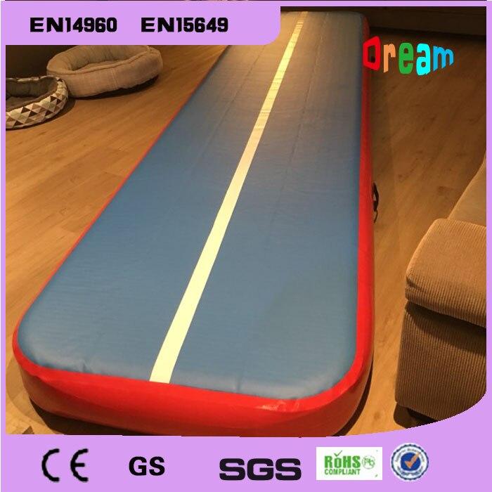 Livraison gratuite 6*1 m rouge piste de dégringolade gonflable piste d'air gonflable dégringolade piste de Trampoline tapis de piste d'air