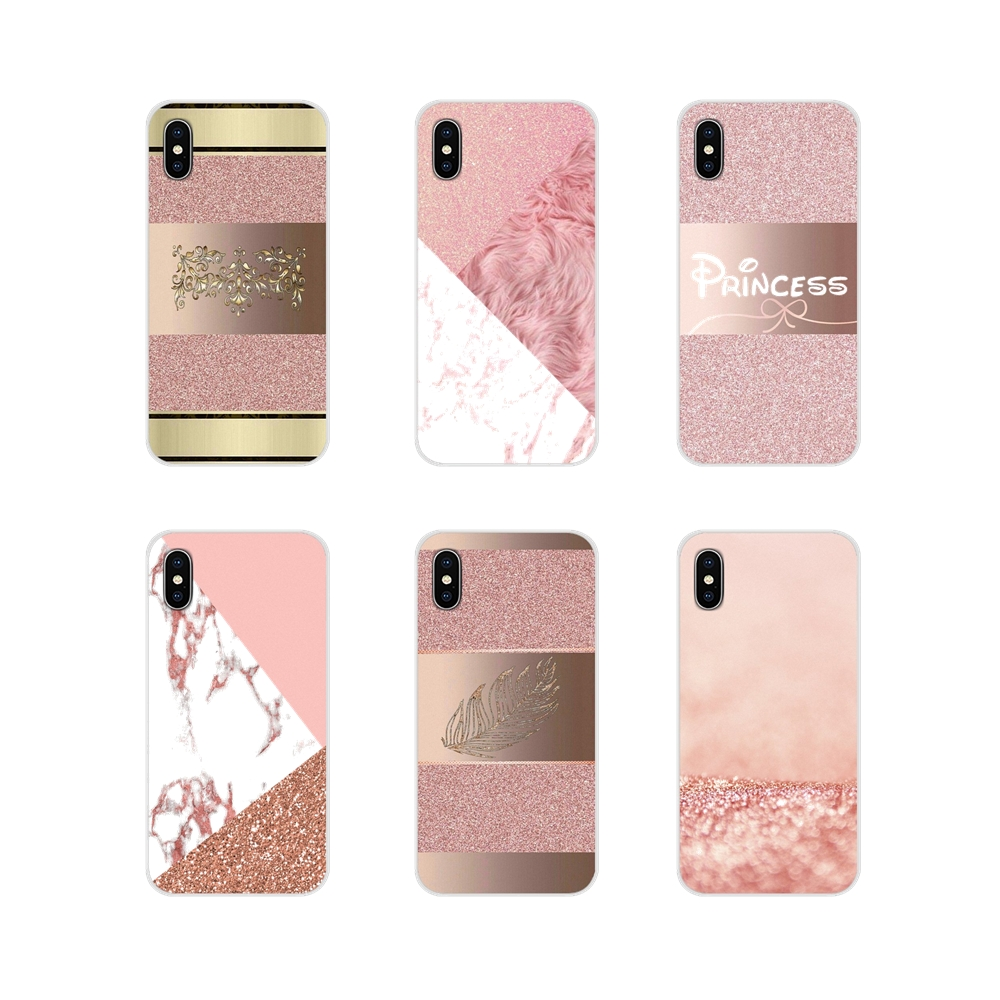 Gold Pink rose Glitter Accessories Phone Shell Covers For Samsung Galaxy A3 A5 A7 J1 J2 J3 J5 J7 2015 2016 2017