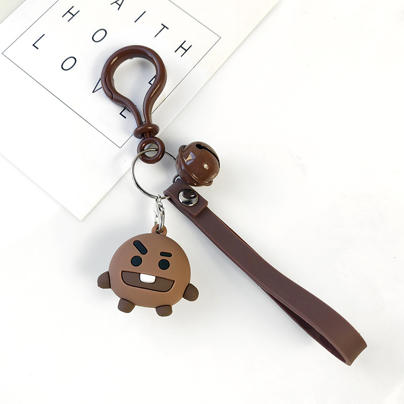2019 New Cartoon Anime We Bare Bears Cute Three Animal Bears Doll Keychains Women Car Bag Pendant Belt Trinkets Key Chains Gift in Key Chains from Jewelry Accessories
