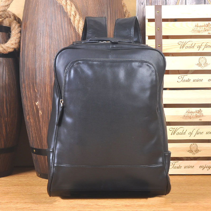 DWOY mens backpack interior slot pocket laptop backpack genuine leather cell phone packets black business laptop backpacksDWOY mens backpack interior slot pocket laptop backpack genuine leather cell phone packets black business laptop backpacks