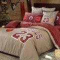 100% cotton Jordan retro style coffee duvet cover set bedding sheet set king size