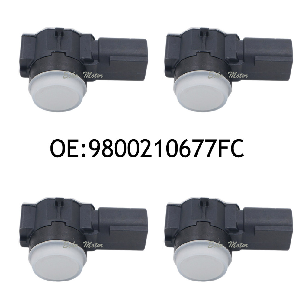 New SET(4) 9800210677FC Parking Assist System For Peugeot Citroen Car Parking Sensor 9800210677 new set 4 89341 0c010 42342 parking ultrasonic sensor for toyota tundra 2014 2015 left right 0c010 42342