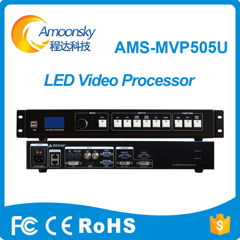 LED Rental Display Video Processor Composite Video DVI VGA HDMI USB Input, Support 1920*1080 Pixel LED Screen Video Processor